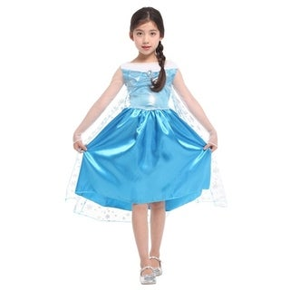 Spooktacular Girls' Ice Princess Dress-Up Costume Set - Elsa