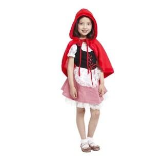 Spooktacular Girls' Fairytale Dress-Up Costume Set - Little Red Riding Hood