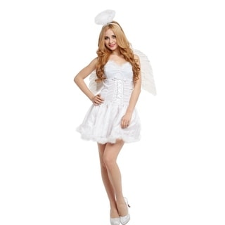 Spooktacular Women's Heavenly Halo Angel Costume with Dress & Accessories