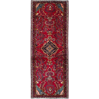 eCarpetGallery Hand-Knotted Lilihan Red Wool Rug (3'8 x 10'9)