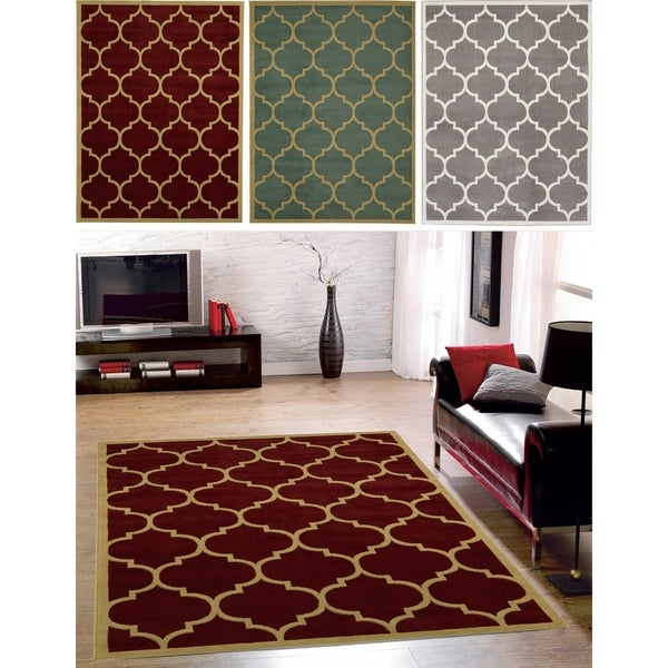 "Sweet Home Stores Clifton Collection Moroccan Trellis Area Rug 8'X10' - 7'10"" x 9'10"""