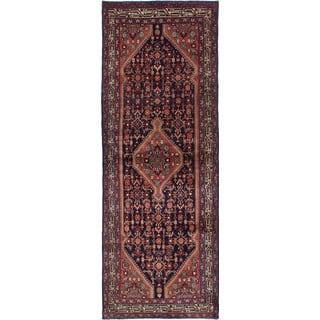 eCarpetGallery Hand-Knotted Hamadan Blue Wool Rug (3'6 x 9'11)|https://ak1.ostkcdn.com/images/products/17651887/P23863781.jpg?impolicy=medium