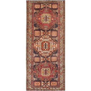 eCarpetGallery Hand-Knotted  Ardabil Blue  Wool Rug (4'5 x 10'5)