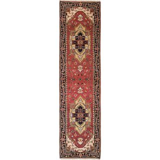 eCarpetGallery Hand-Knotted Serapi Heritage Black, Red Wool Rug (2'7 x 9'10)