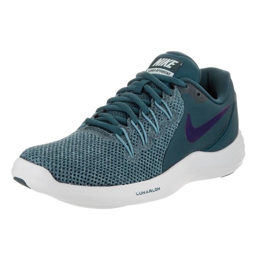Nike Women's Lunar Apparent Running Shoe (8.5), Blue (Syn...