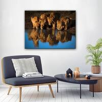 Ready2HangArt 'Lions of Mara' Canvas Wall Decor - Brown