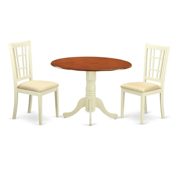 Small Dining Set For 2: Shop DLNI3-BMK 3 PC Table Set For 2- Small Table And 2