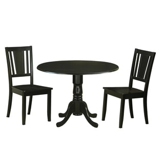 DLDU3-BLK 3 Pc Kitchen Table set for 2-Dinette Table and 2  Chairs