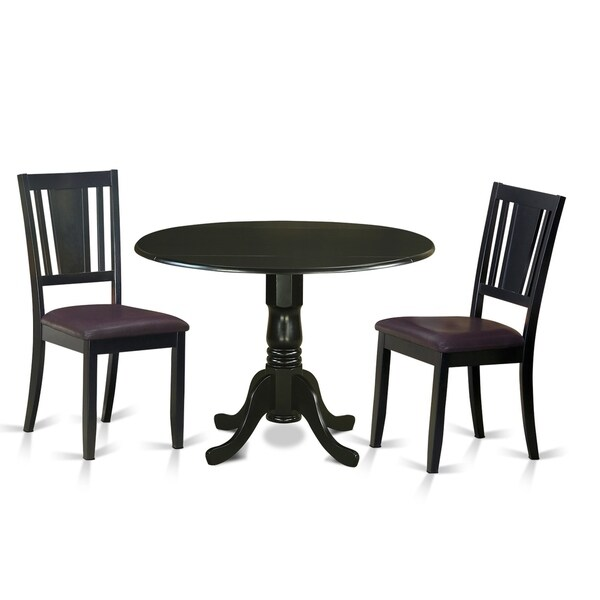 Medium image of dldu3 blk 3 pc kitchen table set for 2 dinette table and 2 chairs