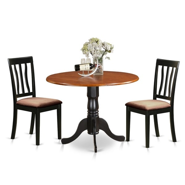 DLAN3-BCH Dining set - kitchen table with 2 Wood Chairs