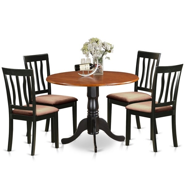 Attractive DLAN5 BCH Dining Set   5 Pcs With 4 Wooden Chairs   Cherry