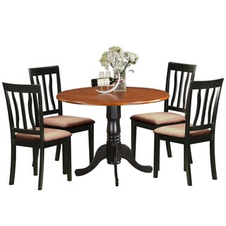 DLAN5-BCH  Dining set - 5 Pcs with 4 Wooden Chairs - Cherry