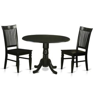 Shop Black Kitchen Table Plus 2 Dinette Chairs 3 Piece