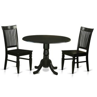 DLWE3 W 3 PC Table Set Dinette And 2 Dining Chairs In