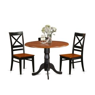 DLQU3-W 3 PC Kitchen Table set-Dining Table and 2 Kitchen Chairs (2 options available)
