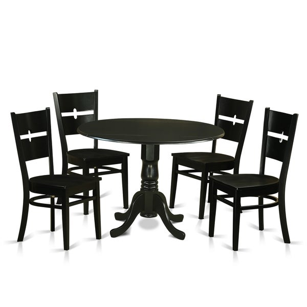 DLRO5-W 5 Pc Kitchen set for 4-Dining Table and 4 Kitchen Chairs