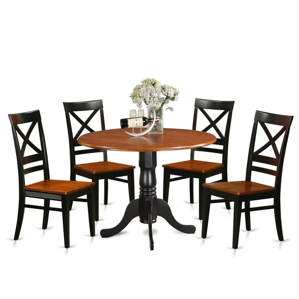 Modern 5pc Dining Table Set Kitchen Dinette Chairs: Shop DLQU5-W 5 PC Kitchen Table Set-Dining Table And 4