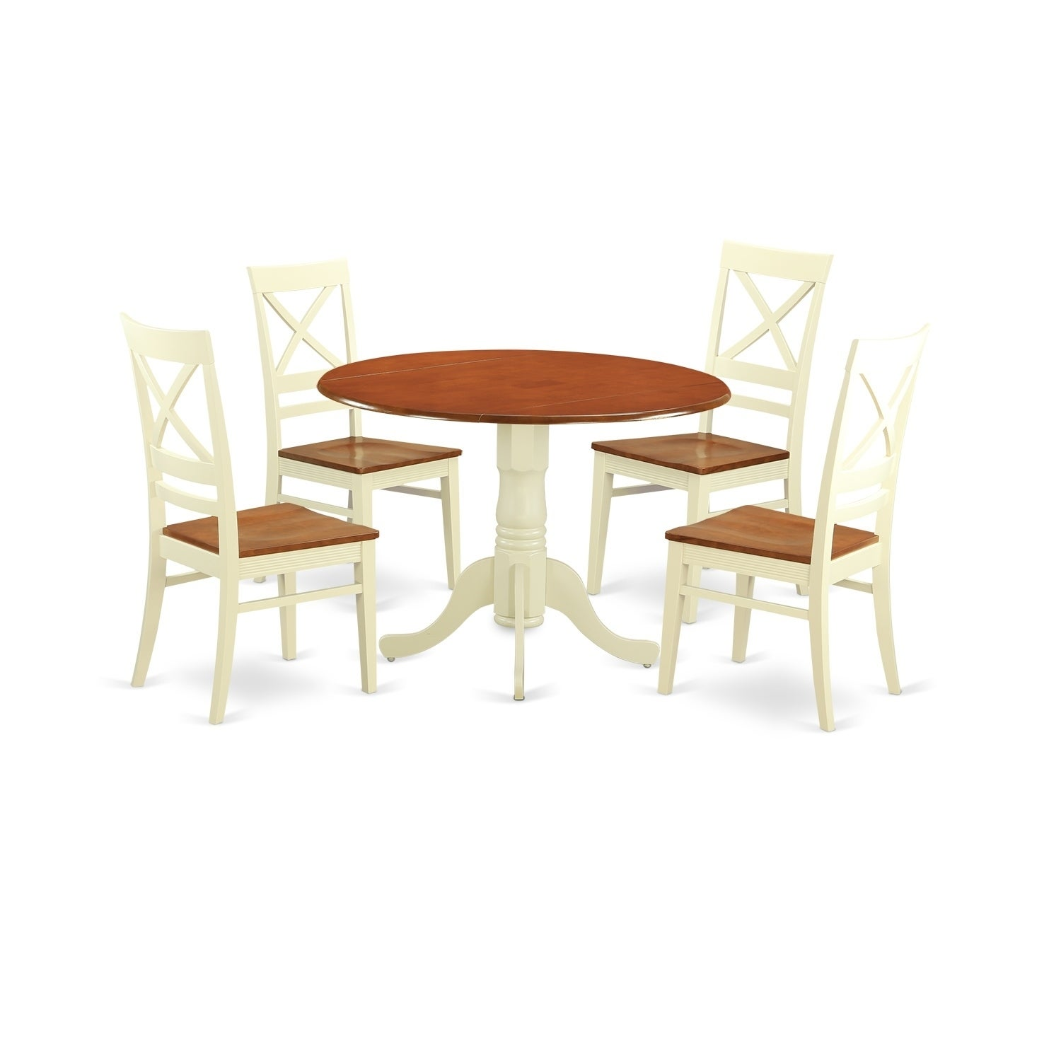 DLQU5-W 5 PC Kitchen Table set-Dining Table and 4 Kitchen Chairs | eBay
