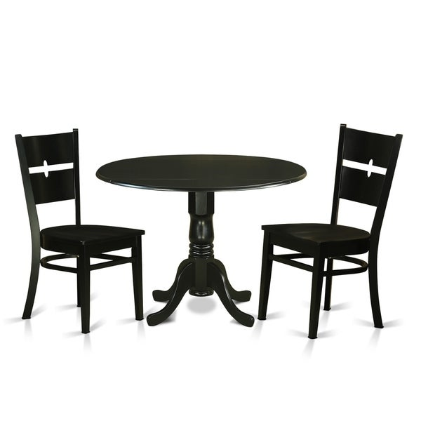Free Kitchen Table And Chairs: Shop DLRO3-W 3 PC Table Set-Kitchen Table And 2 Dining