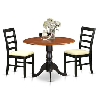DLPF3-BCH  3 PC Kitchen Table set-Dining Table and 2  Kitchen Chairs - Cherry Finish