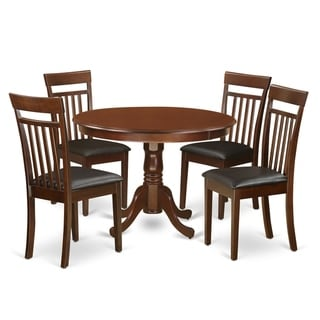 HLCA5-MAH 5 Pc set with a  Table and 4 Leather Dinette Chairs