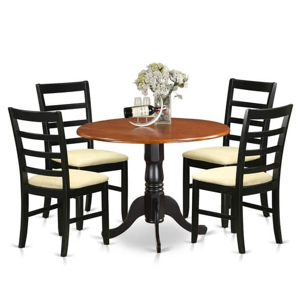 DLPF5-BCH 5 PC Kitchen Table set-Dining Table and 4 Kitchen Chairs