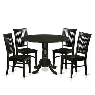 DLWE5-W 5 PC small Kitchen Table set - Table and 4 Dining Chairs