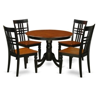 HLLG5-W  5 Pc set with a Dining Table and 4 Dinette Chairs