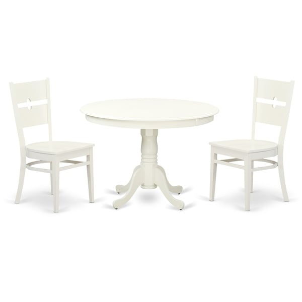Shop HLRO-LWH-W 3 Pc Set With A Round Table And 2 Kitchen