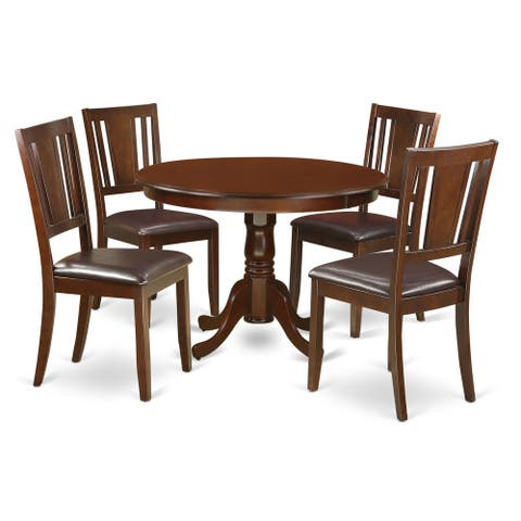 HLDU5-MAH 5 Pc set with a Round Table and 4 Kitchen Chairs