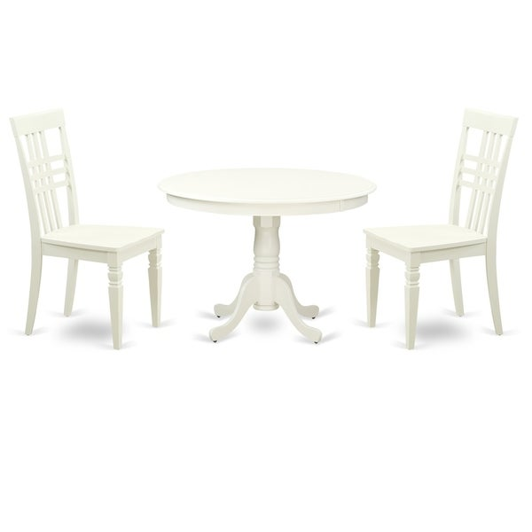 Shop HLLG-LWH-W 3 Pc Set With A Round Table And 2 Wood