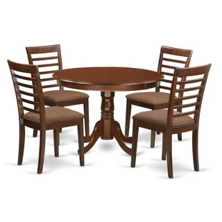 HLML5-MAH  5 Pc set with a Kitchen Table and 4 Kitchen Chairs