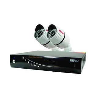 T-HD 4 Channel DVR Surveillance System with 2 Security Bullet Cameras