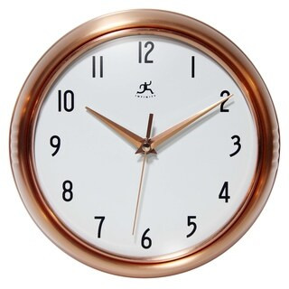 9.5 inch Brushed Copper Wall Clock Retro by Infinity Instruments
