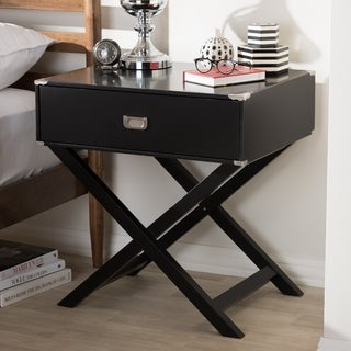 Contemporary 1-Drawer Nightstand by Baxton Studio