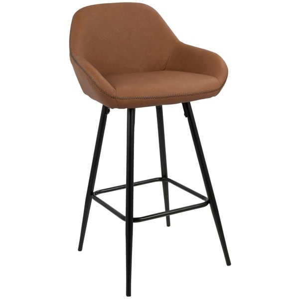 "Clubhouse 26"" Counter Stool with Vintage Faux Leather (Set of 2)"