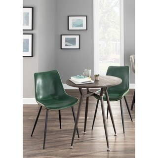 Durango Dining Chair with Black Frame and Vintage PU Leather (Set of 2)