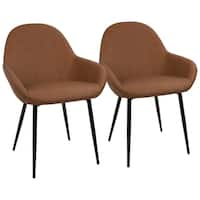 Clubhouse Contemporary Dining Chair with Vintage Faux Leather (Set of 2)