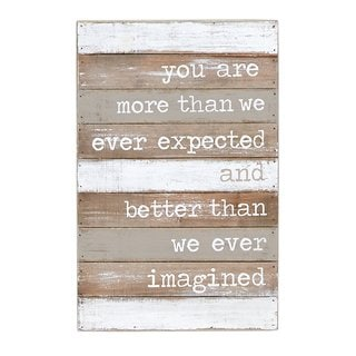 MUD PIE 'Better Than We Imagined' Nursery Wall Plaque