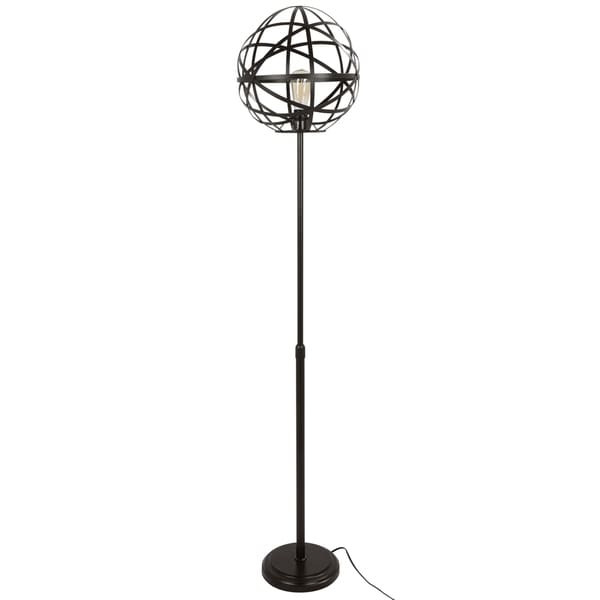 Linx Industrial Floor Lamp with Antique Finished Metal and Oval Shade. Opens flyout.
