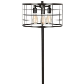 Indy Wire Floor Lamp with Antique Finished Metal