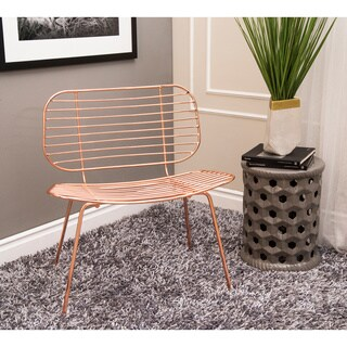 Abbyson Toni Iron Accent Chair, Rose Gold