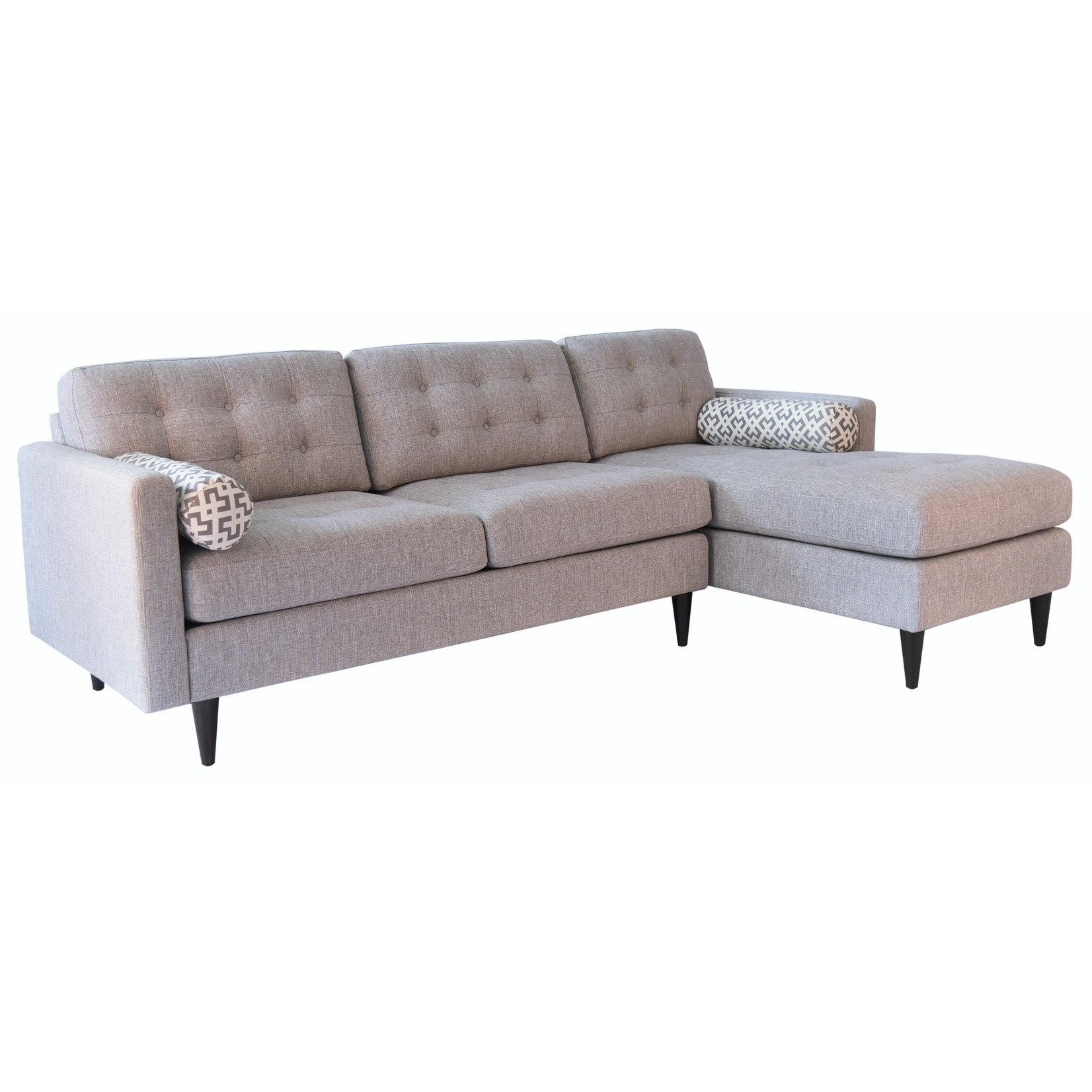 Incredible Abbyson Aiden Grey Mid Century Tufted Sectional Gmtry Best Dining Table And Chair Ideas Images Gmtryco