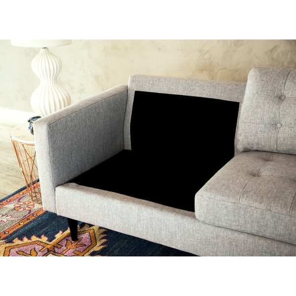 Groovy Shop Abbyson Aiden Grey Mid Century Tufted Sectional Free Gmtry Best Dining Table And Chair Ideas Images Gmtryco