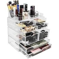 Sorbus Makeup Storage Case X-Large, Stackable & Detachable Drawers