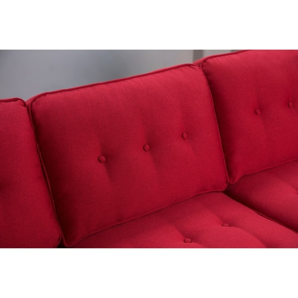 Shop Abbyson Clinton Mid Century Tufted Sofa - On Sale ...