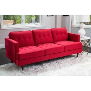 Abbyson Clinton Mid Century Tufted Sofa