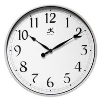 18 inch Silver Wall Clock by Infinity Instruments