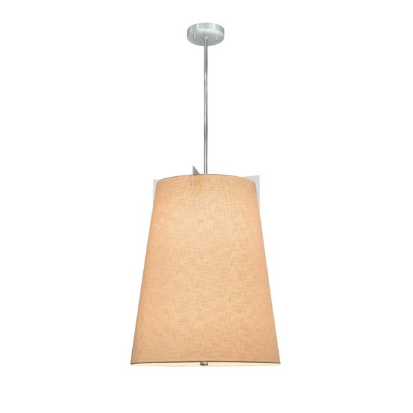 Justice Design Group Textile Midtown 2-light Polished Chrome Pendant, Cream Shade