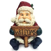 "16"" Santa Holding Welcome Sign"